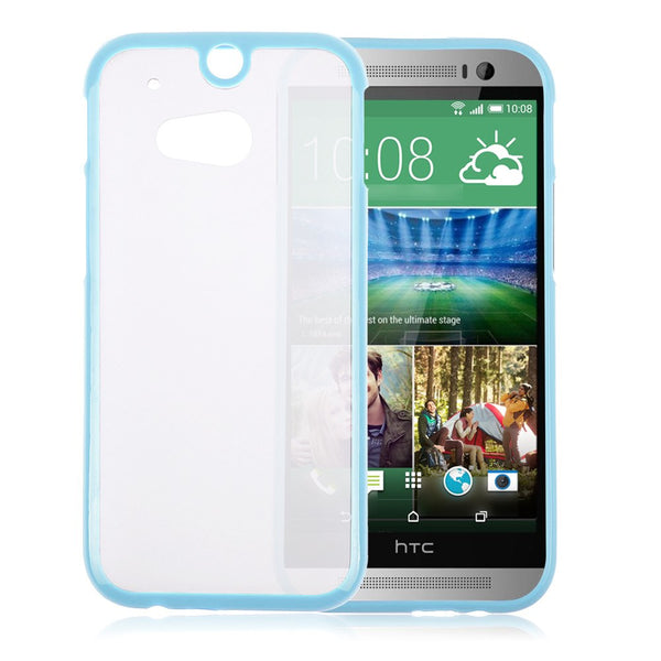 HTC One M8 Blue Bumper Frosted Case