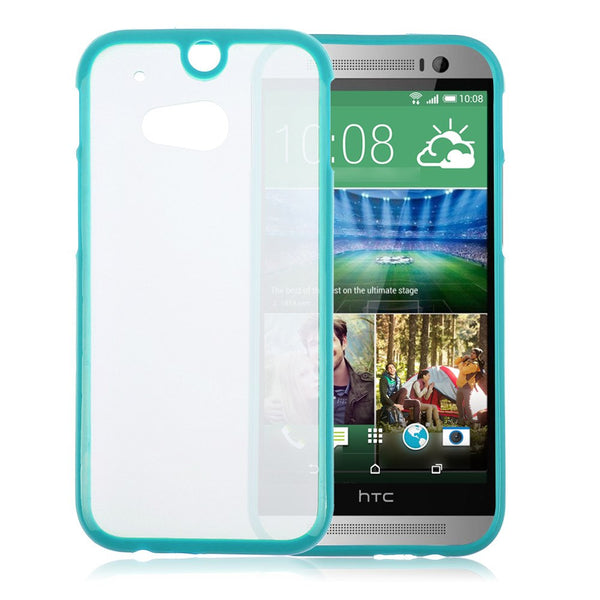 HTC One M8 Teal Turquoise Bumper Frosted Case