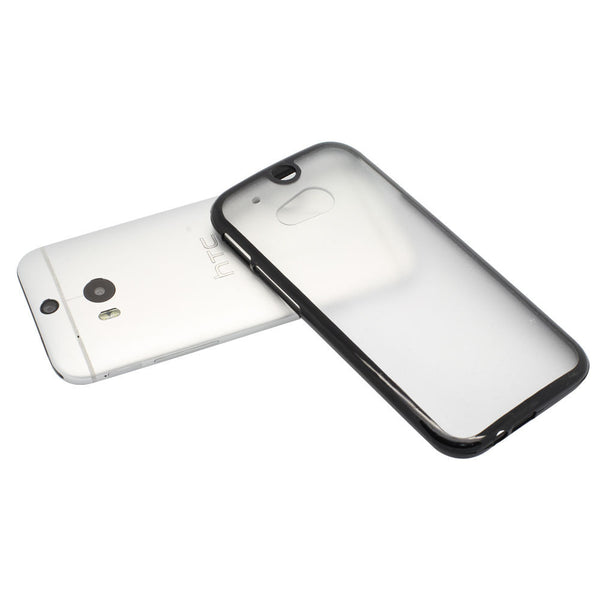 HTC One M8 Black Bumper Frosted Case
