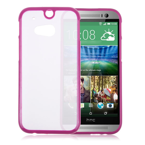 HTC One M8 Hot Pink Bumper Frosted Case