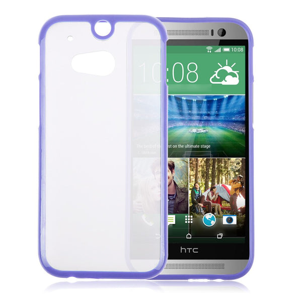 HTC One M8 Purple Bumper Frosted Case