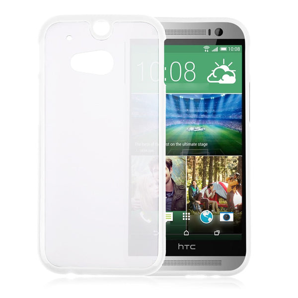HTC One M8 White Bumper Frosted Case