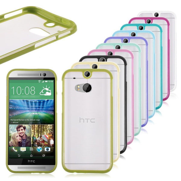 HTC One M8 Lime Green Bumper Frosted Case