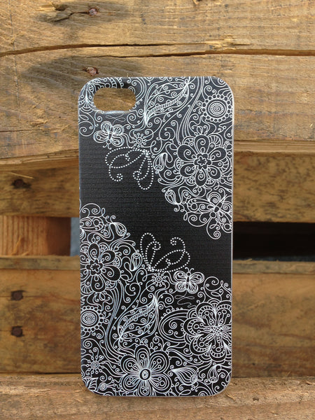 iPhone 5 and iPhone 5s Black Lace Butterfly Case - Ashby Natasha Case