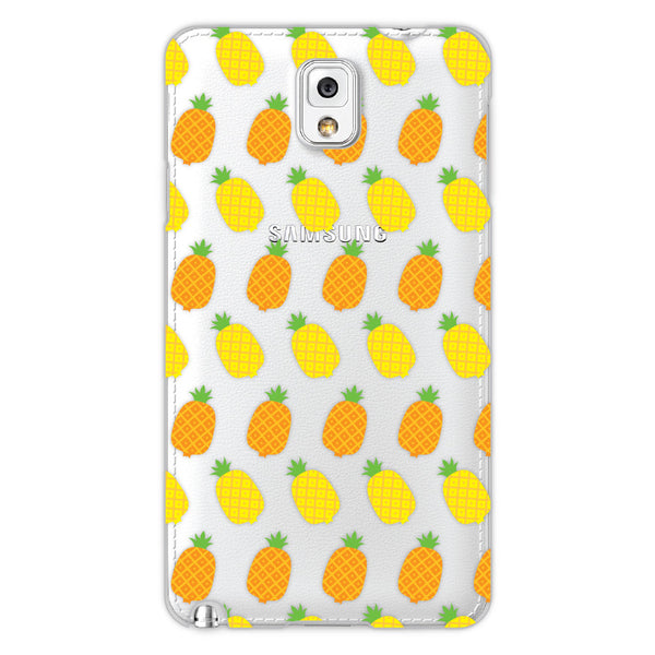 Samsung Galaxy Note 3 Pineapples Transparent Cap Case