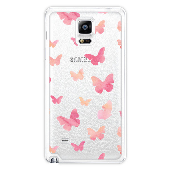 Samsung Galaxy Note 4 Butterfly Clear Bumper Case