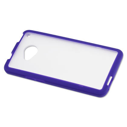 HTC One Purple Bumper Frosted Case