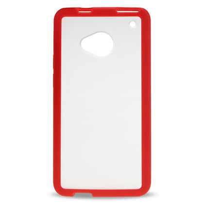 HTC One Red Bumper Frosted Case