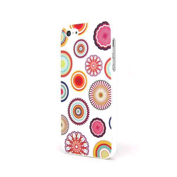 iPhone 5 and iPhone 5s Zen Circles White Case - Radiant Glimmer Case