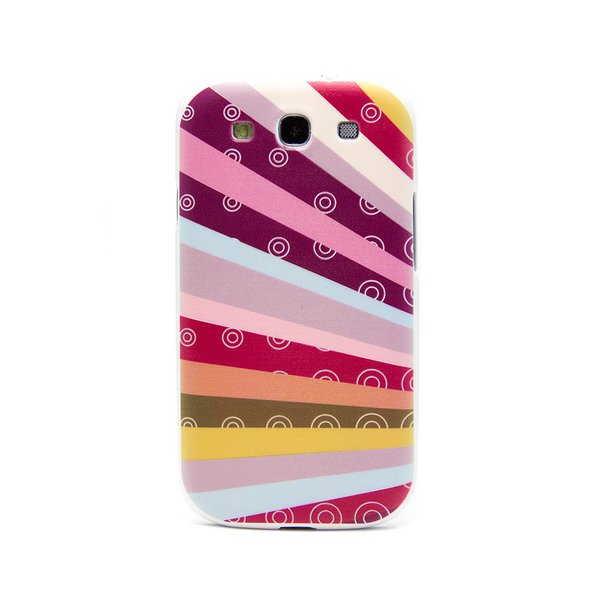 Samsung Galaxy S3 Rainbow Purple Case - Radiant Raybows Case