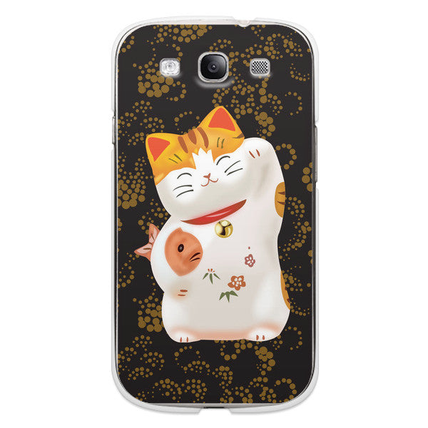 Samsung Galaxy S3 Cute Cat Anime Case