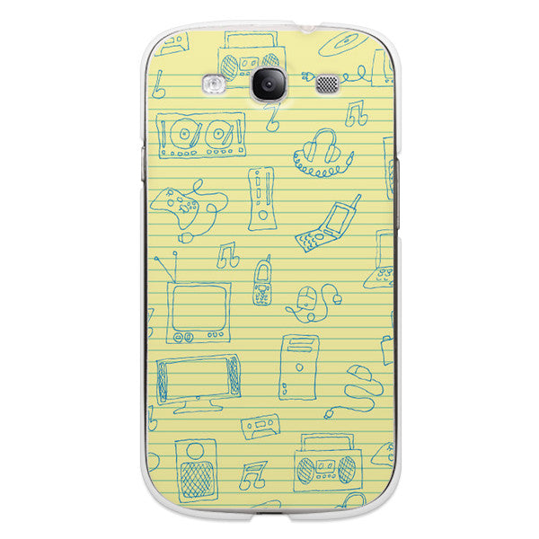 Samsung Galaxy S3 Yellow Legal Notebook Doodle Case - High Tops Doodle Case