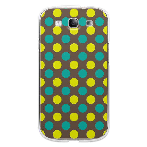 Samsung Galaxy S3 Polka Dots Green Blue Case