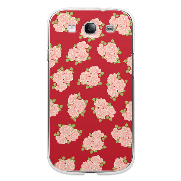 Samsung Galaxy S3 Red Roses Case - Duchess Chesterfield Case