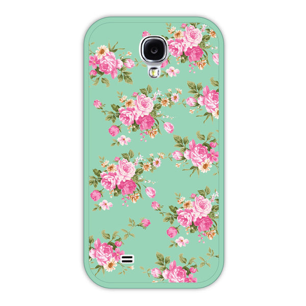 Samsung Galaxy S4 Mint Floral Bumper Case