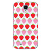 Samsung Galaxy S4 Strawberries Transparent Cap Case