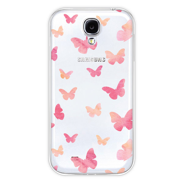 Samsung Galaxy S4 Butterfly Clear Bumper Case