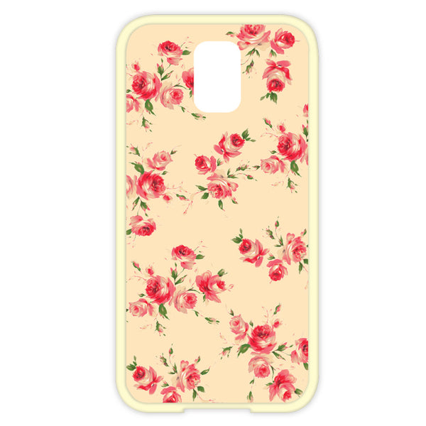 Samsung Galaxy S5 Yellow Floral Bumper Case