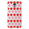 Samsung Galaxy S5 Strawberries Transparent Cap Case