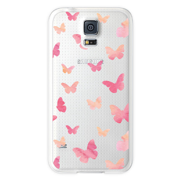 Samsung Galaxy S5 Butterfly Clear Bumper Case