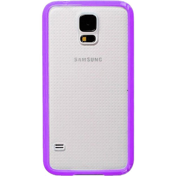 Samsung Galaxy S5 Purple Bumper Frosted Case