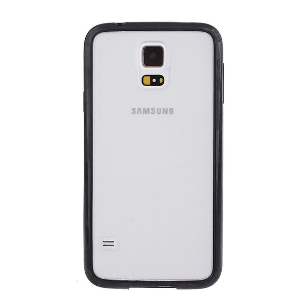 Samsung Galaxy S5 Black Bumper Frosted Case