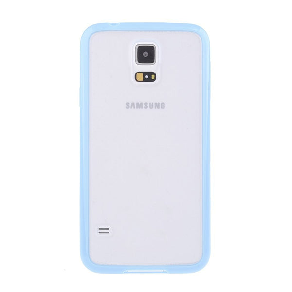 Samsung Galaxy S5 Blue Bumper Frosted Case