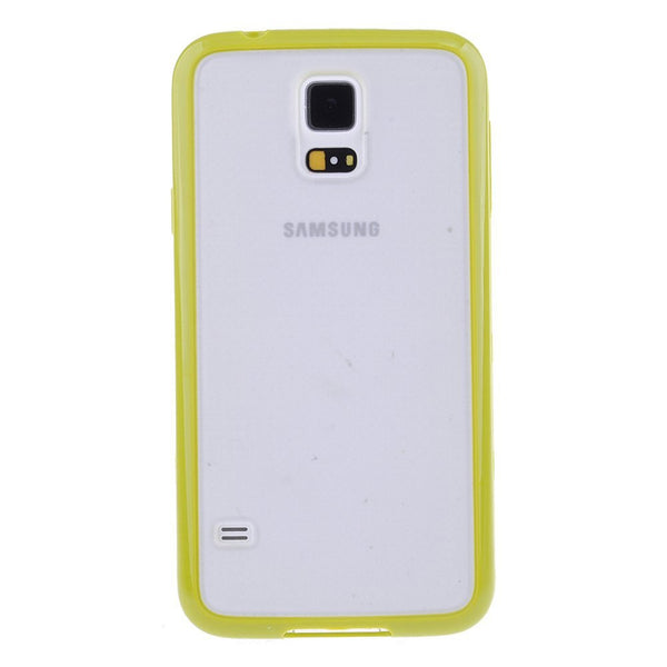 Samsung Galaxy S5 Lime Green Bumper Frosted Case