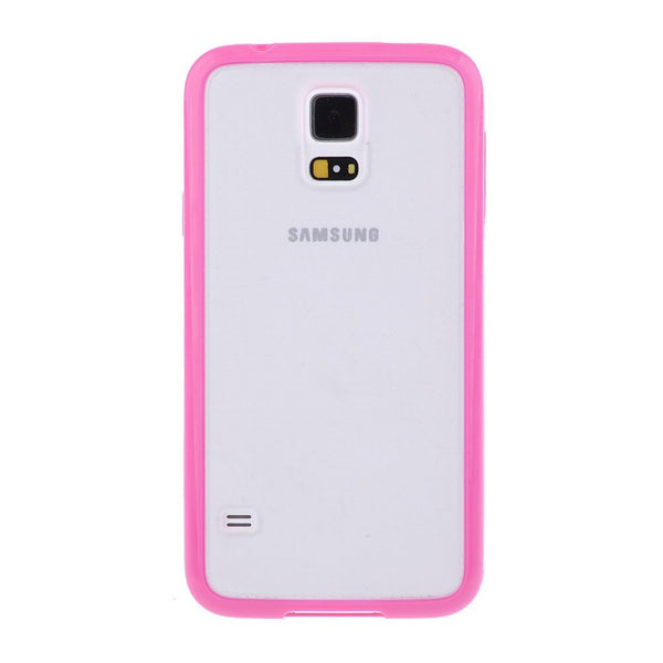 Samsung Galaxy S5 Hot Pink Bumper Frosted Case