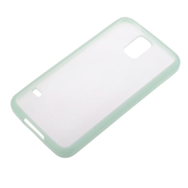 Samsung Galaxy S5 Mint Green Bumper Frosted Case