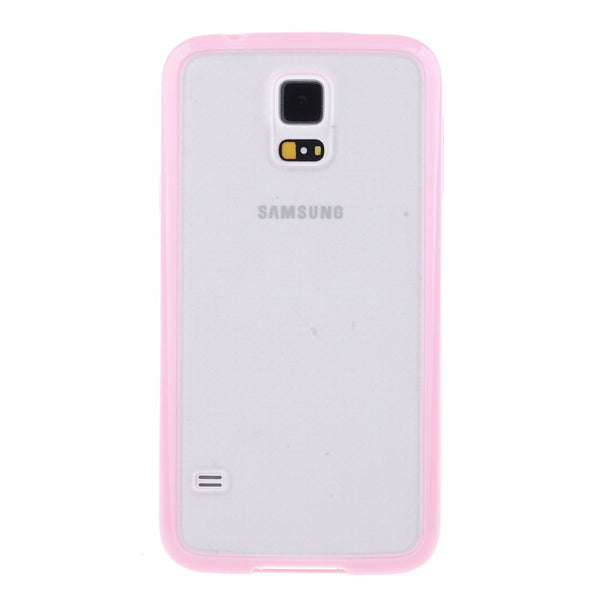 Samsung Galaxy S5 Pink Bumper Frosted Case