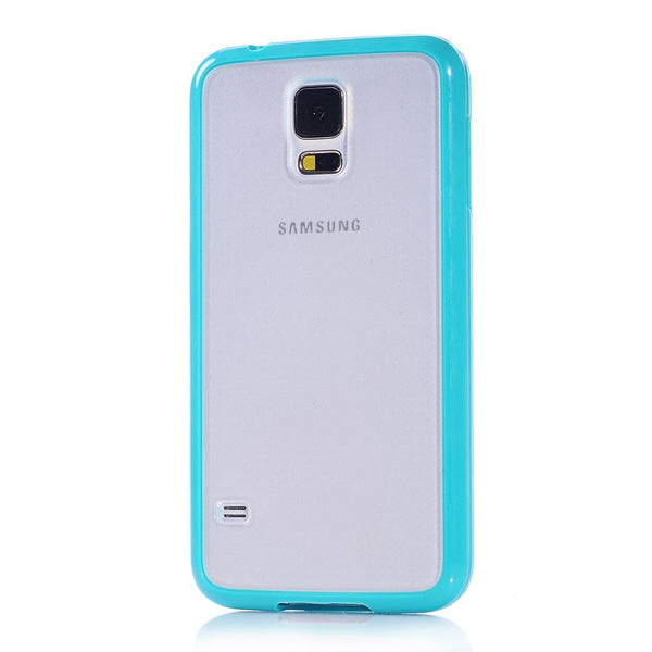 Samsung Galaxy S5 Turquoise Bumper Frosted Case