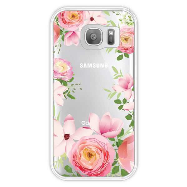 Samsung Galaxy S7 Pink Roses Bumper Case