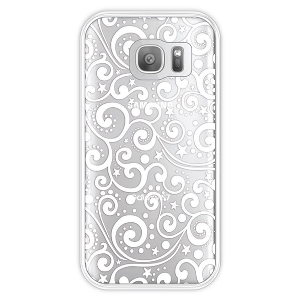 Samsung Galaxy S7 Ocean Waves Transparent Bumper Case