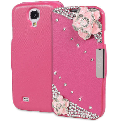 Samsung Galaxy S4 Diamond Folio Case in Pink