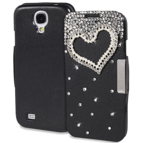 Samsung Galaxy S4 Diamond Folio Case in Black