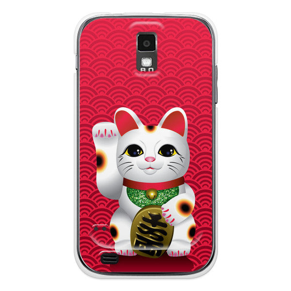 T-Mobile Samsung Galaxy S2 Lucky Cat Japanese Maneki Neko Anime Case