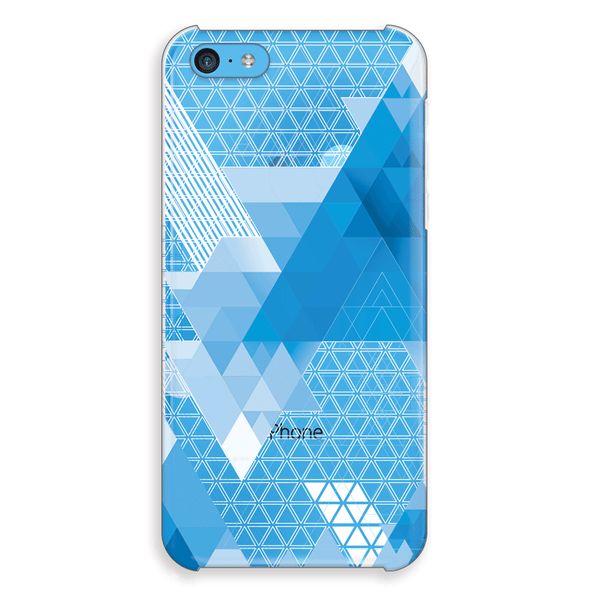 iPhone 5c Blue Geometric Abstract Transparent Cap Case