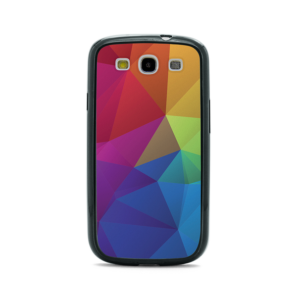 Samsung Galaxy S3 Geometric Rainbow Bumper Case