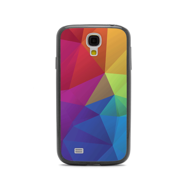 Samsung Galaxy S4 Rainbow Geometric Black Bumper Case