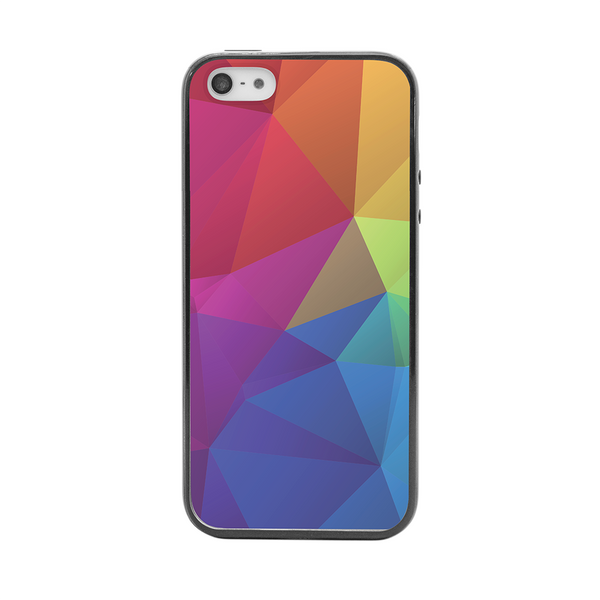 iPhone 5 and iPhone 5s Rainbow Geometric Bumper Case