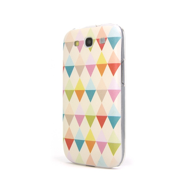 Samsung Galaxy S3 Rainbow Geometric Flags Case - Theory Emblem Case