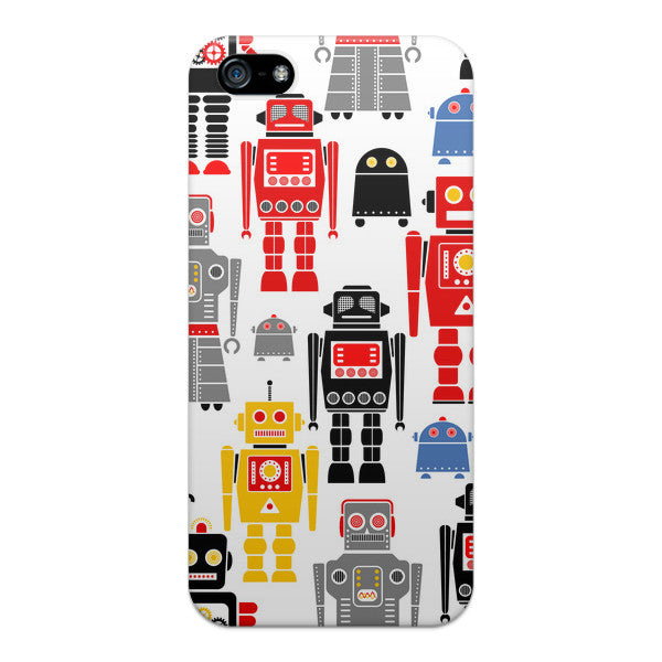 iPhone 5 and iPhone 5s I Love Robots Case