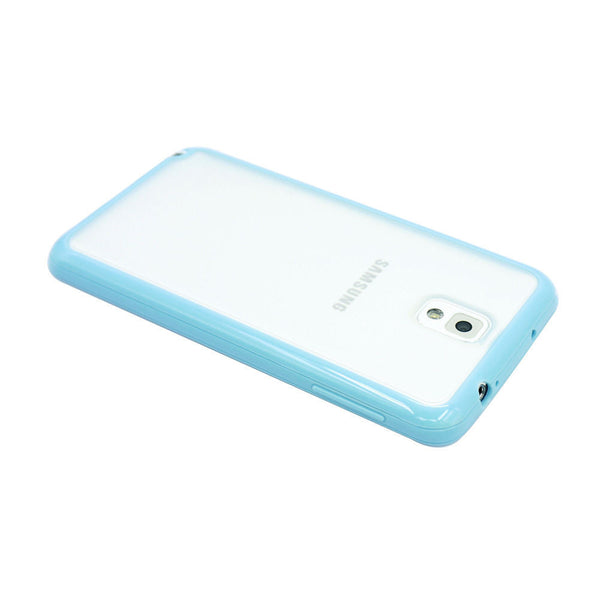Samsung Galaxy Note 3 Blue Bumper Frosted Case