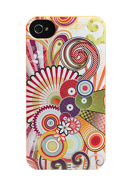 iPhone 4 and iPhone 4s Rainbow Swirls Case - Radiant Concoction Case