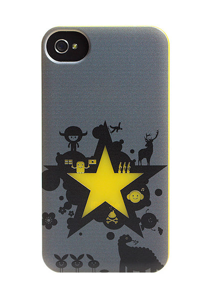 iPhone 4 and iPhone 4s Robot Star Comics Yellow & Gray Case - Attack Galaxacon Case