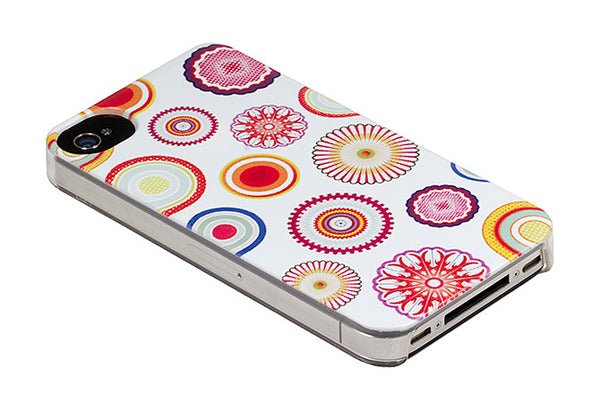 iPhone 4 and iPhone 4s White Japanese Blossoms Flowers Case - Radiant Glimmer Case
