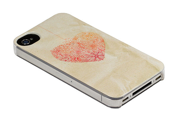iPhone 4 and iPhone 4s Heart Case - Ashby Heartstring Case