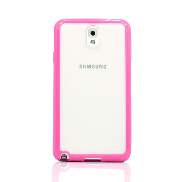 Samsung Galaxy Note 3 Hot Pink Bumper Frosted Case