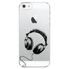 iPhone 5 and iPhone 5s Headphones Transparent Cap Case